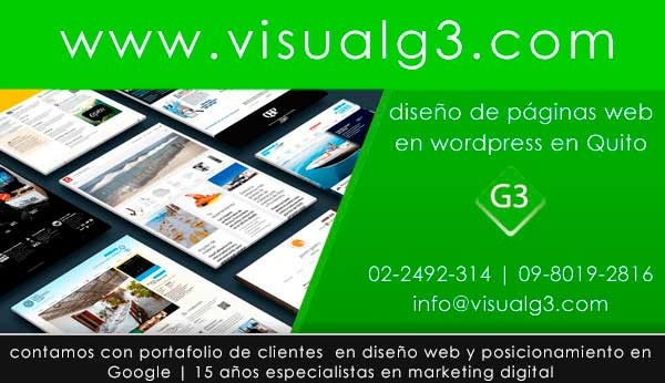 diseño de paginas web en wordpress Quito