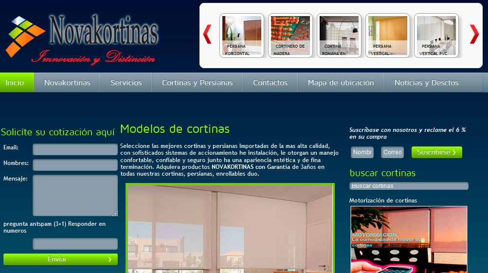 Cortinas en Quito